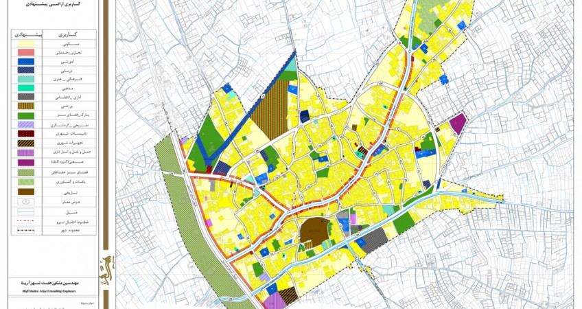 طرح جامع شهر اسفرورین - کاربری اراضی پیشنهادی