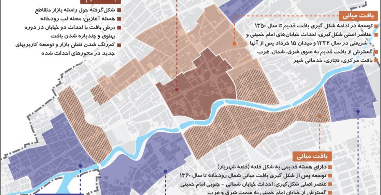 طرح بهسازی و نوسازی بافت فرسوده شهر خمین - نقشه محدوده های بافت فرسوده