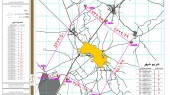طرح جامع شهر خرمدشت - نقشه محدوده و حریم شهر