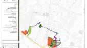 طرح گردشگری میبد - نقشه جانمایی فعالیت ها در مسیر یک