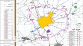 طرح جامع شهر اسفرورین - نقشه حریم شهر