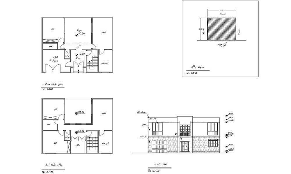 طرح بهسازی بافت با ارزش روستای وفس - نقشه کاربری اراضی پیشنهادی