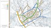 طرح جامع شهر اسفرورین - نقشه سلسله مراتب شبکه معابر پیشنهادی