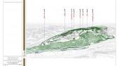 طراحی باغ موزه دفاع مقدس تبریز - نقشه جانمایی قله ها در سایت