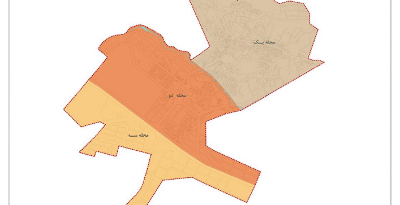 طرح جامع و طرح تفصیلی شهر دستجرد - نقشه تقسیمات شهری پیشنهادی