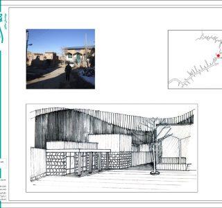 طرح بهسازی بافت با ارزش روستای وفس - طراحی اسکیس