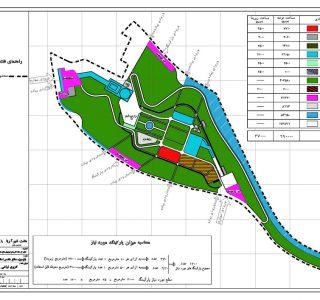 طراحی باغ موزه دفاع مقدس تبریز - نقشه کاربری اراضی پیشنهادی