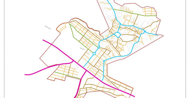 طرح جامع و طرح تفصیلی شهر دستجرد - نقشه سلسله مراتب دسترسی پیشنهادی