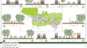 طرح بهسازی بافت با ارزش روستای انجدان - نقشه مقاطع