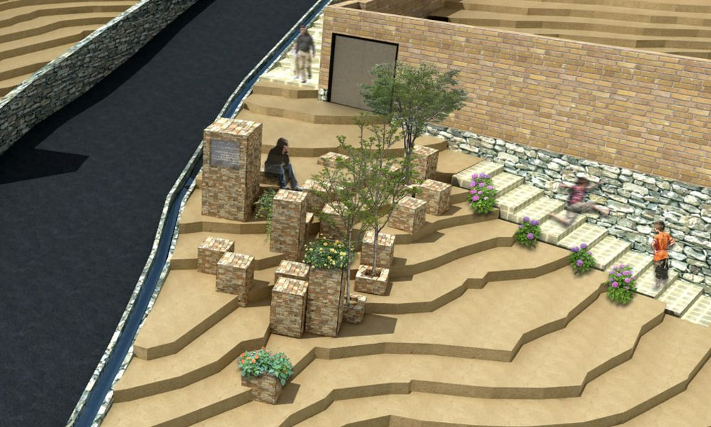 طرح بهسازی روستای حیدره دارالامام - طرح ورودی روستا