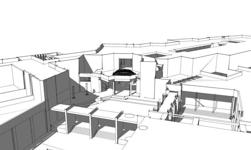 طراحی شهری و طرح نوسازی بازار تسوج - طرح سه بعدی