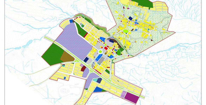 طرح جامع و طرح تفصیلی شهر دستجرد - نقشه کاربری اراضی پیشنهادی