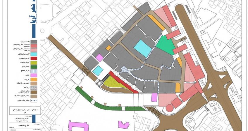 طراحی شهری اطراف بیت امام خمینی - نقشه تدقیق طرح مفهومی