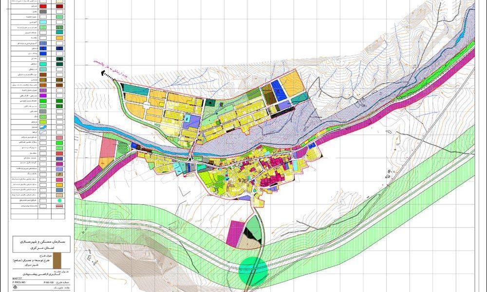 طرح توسعه و عمران - جامع - و طرح تفصیلی شهر نراق - کاربری اراضی پیشنهادی