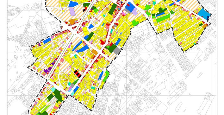 طرح بهسازی و نوسازی بافت فرسوده اسفراین - نقشه کاربری اراضی پیشنهادی