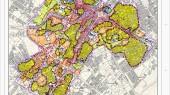 طرح بهسازی و نوسازی بافت فرسوده اسفراین - نقشه کاربری اراضی - پهنه ها و راسته ها و مراکز شهری