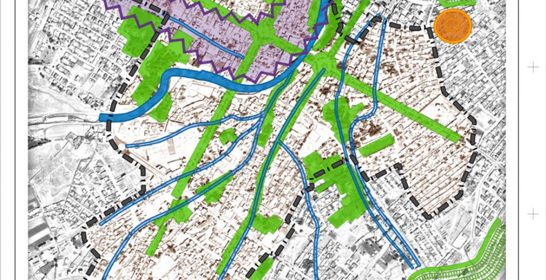 طرح بهسازی و نوسازی بافت فرسوده اسفراین - نقشه ساختار محیط طبیعی