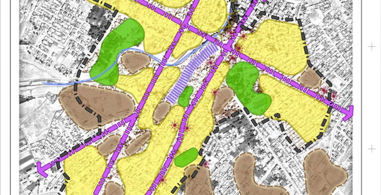 طرح بهسازی و نوسازی بافت فرسوده اسفراین - نقشه ساختار عملکردی محور مرکزی
