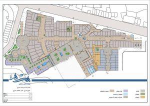 طراحی شهری و طرح نوسازی بازار تسوج - نقشه پلان