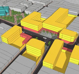 طرح بهسازی و نوسازی بافت فرسوده شهر خمین - کانسپت حجمی طرح