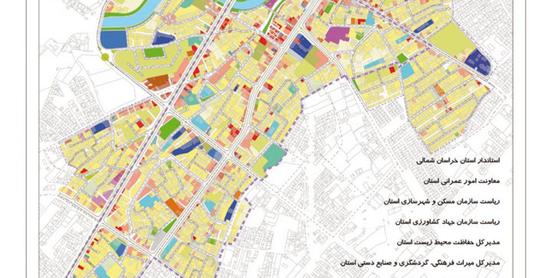 طرح بهسازی و نوسازی بافت فرسوده اسفراین - نقشه طرح تفصیلی پیشنهادی