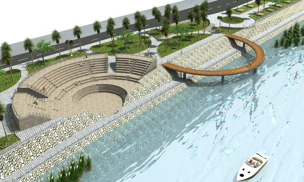 طراحی محوطه باغ موزه دفاع مقدس مازندران - طراحی سه بعدی