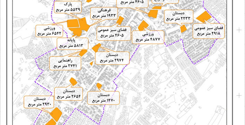 طرح بهسازی و نوسازی بافت فرسوده اسفراین - نقشه کاربری پیشنهادی طرح تفصیلی