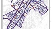طرح بهسازی و نوسازی بافت فرسوده اسفراین - نقشه چارچوب طراحی شهری - مقایسه ساختار معابر پیشنهادی طرح تفصیلی و طرح بهسازی