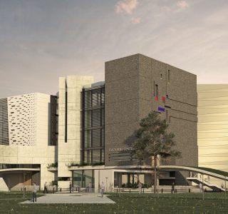طراحی معماری فرهنگسرای تهرانسر - طرح سه بعدی