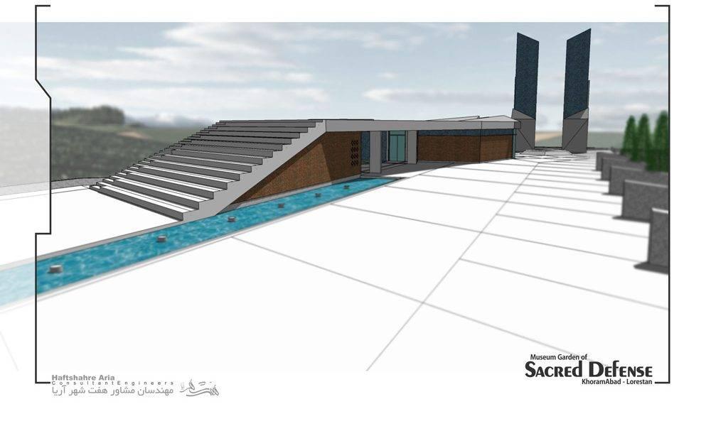 طراحی حسینیه دفاع مقدس خرمآباد
