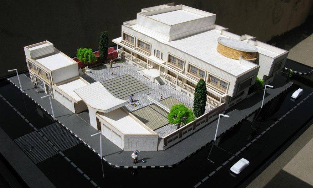 طراحی معماری مدرسه دبستان - ماکت طرح