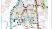 طرح بهسازی و نوسازی بافت فرسوده بابل - نقشه ساختار فضایی پیشنهادی