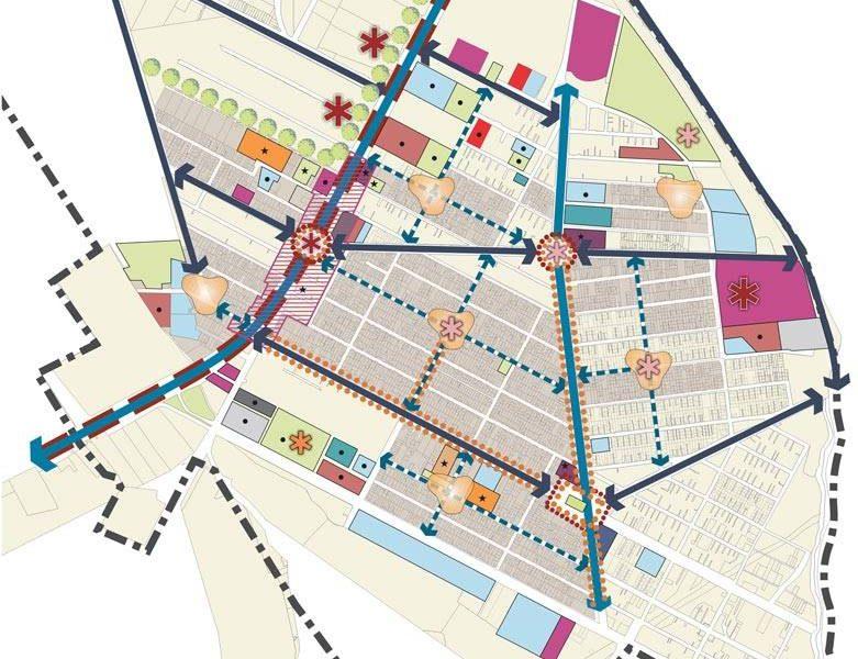 طرح بهسازی و نوسازی بافت فرسوده باقرشهر - ساز مان فضایی و استخوان بندی شهر