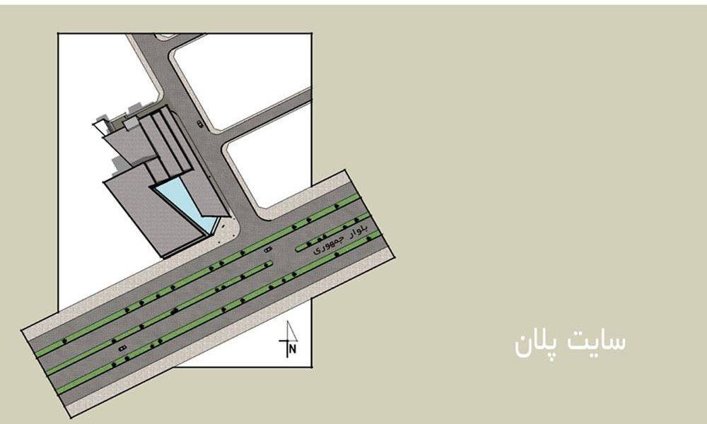 طراحی معماری مجتمع تجاری – تفریحی کرمان - نقشه سایت پلان