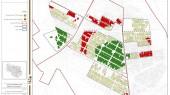 طرح بهسازی و نوسازی بافت فرسوده باقرشهر - نقشه تراکم و پراکندگی خدمات محله ای