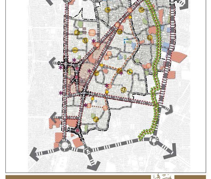 طرح بهسازی و نوسازی بافت فرسوده بابل - ساختار فضایی پیشنهادی