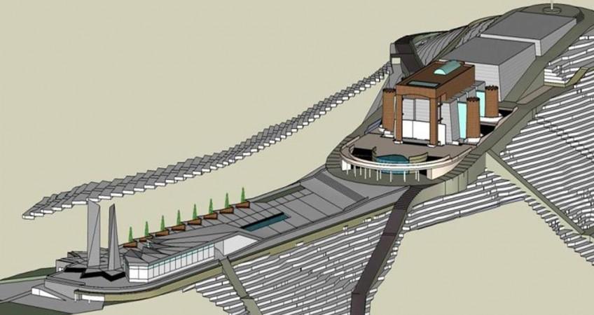 طراحی باغ موزه دفاع مقدس خرم آباد - نقشه طرح سه بعدی