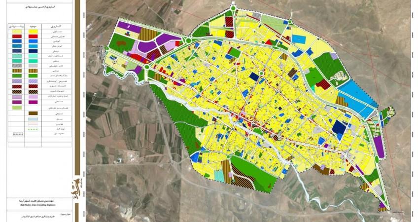 طرح جامع شهر الیگودرز - نقشه کاربری اراضی پیشنهادی