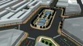 طرح بهسازی و نوسازی بافت فرسوده باقرشهر - طراحی سه بعدی میدان شهری - دید پرنده