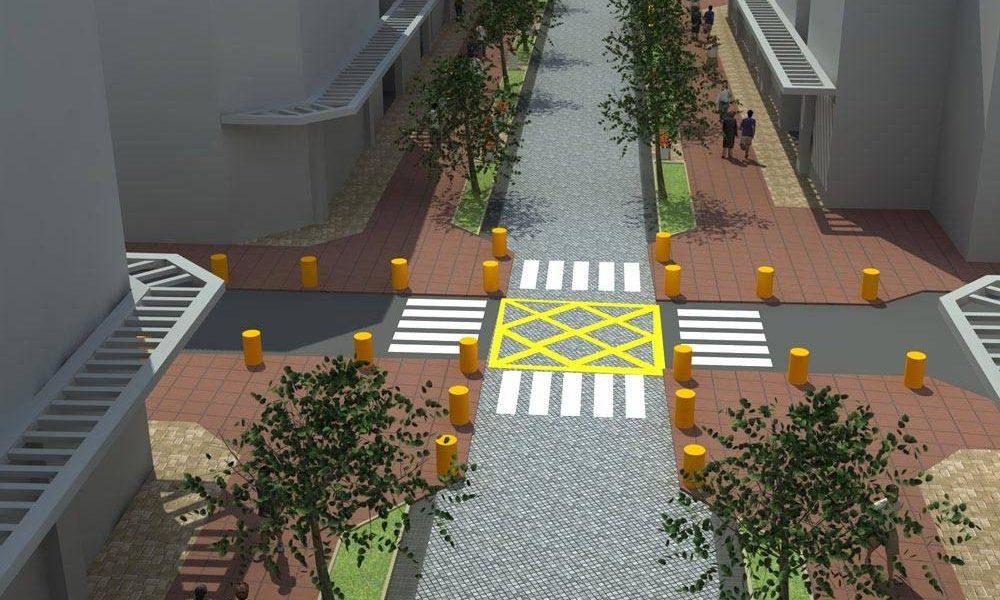 طرح بهسازی و نوسازی بافت فرسوده باقرشهر - طراحی سع بعدی تقاطع و خیابان