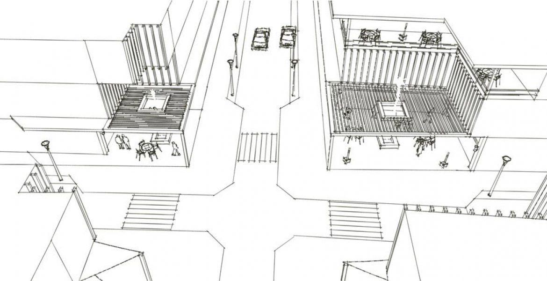 طرح بهسازی و نوسازی بافت فرسوده باقرشهر - طرح سه بعدی تقاطع