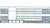 طراحی ساختمان فرهنگی – اداری دهکده مقاومت دفاع مقدس - طراحی اولیه نما