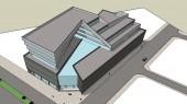 طراحی معماری مجتمع تجاری – تفریحی کرمان - طرح سه بعدی