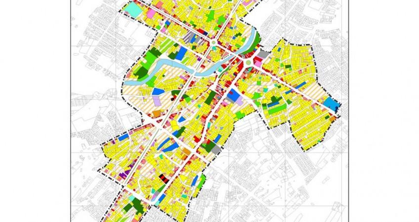 طرح بهسازی و نوسازی بافت فرسوده اسفراین - نقشه کاربری اراضی