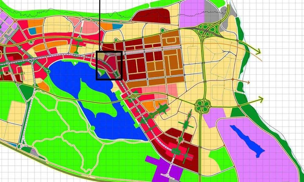 ارزیابی مالی و امکانسنجی اقتصادی پروژه - موقعیت زمین در نقشه کاربری اراضی منطقه