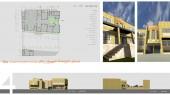 طراحی معماری مدرسه دبستان - نمای شمالی و غربی و پلان طبقه همکف