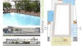 طراحی معماری مقطع باغ بازار