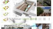 طراحی معماری سه بعدی و مقطع باغ بازار