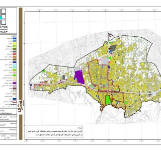 طرح بهسازی و نوسازی بافتهای ناکارآمد شهری شهر بهشهر - نقشه کاربری اراضی وضع موجود
