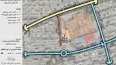 طرح امکان سنجی گردشگری عمارت ملک التجار بوشهر - نقشه شبکه دسترسی در حوزه بالفصل